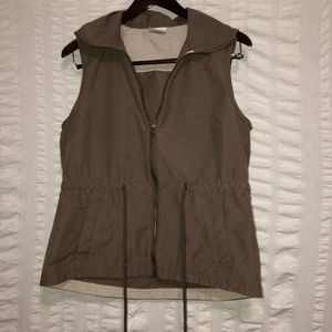 Columbia Brown Vest w/ Cinched Waist